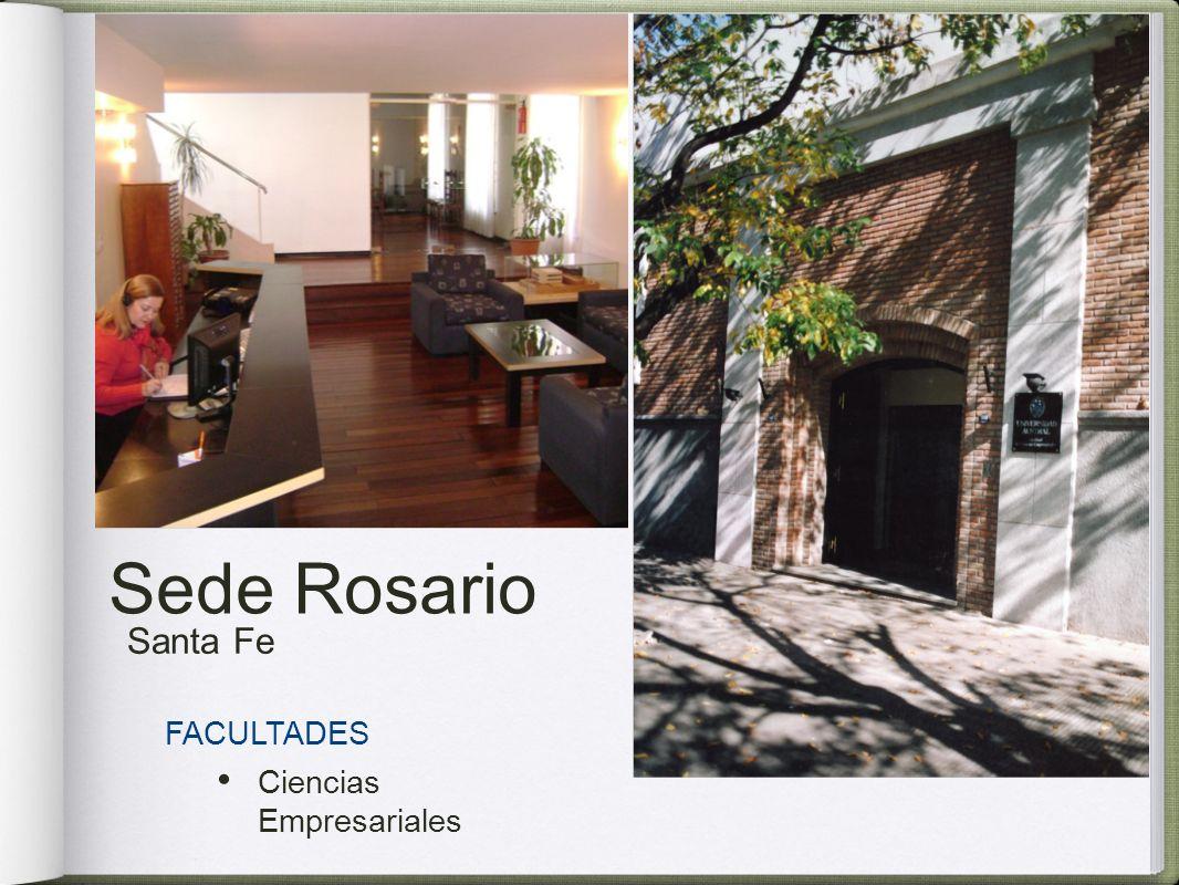 Sede Rosario Santa Fe FACULTADES Ciencias Empresariales