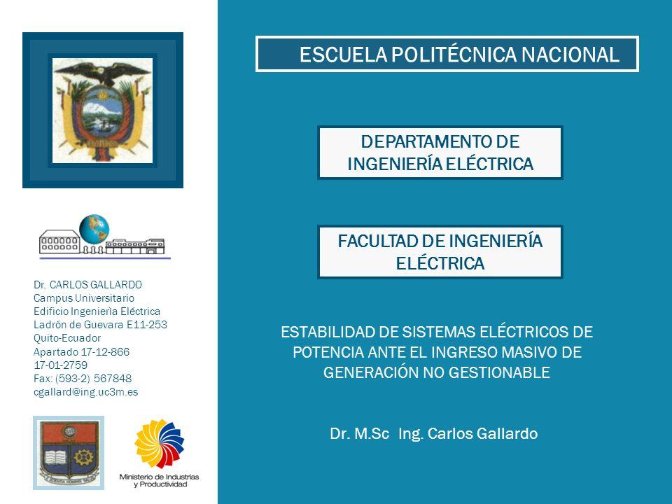 Dr. M.Sc Ing. Carlos Gallardo