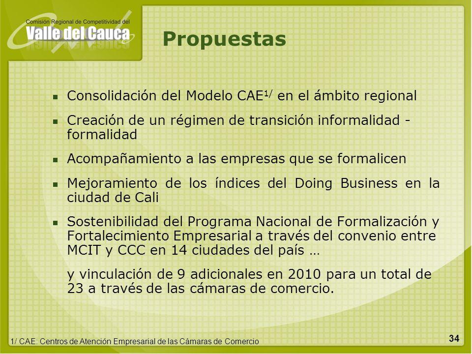 Propuestas Consolidación del Modelo CAE1/ en el ámbito regional