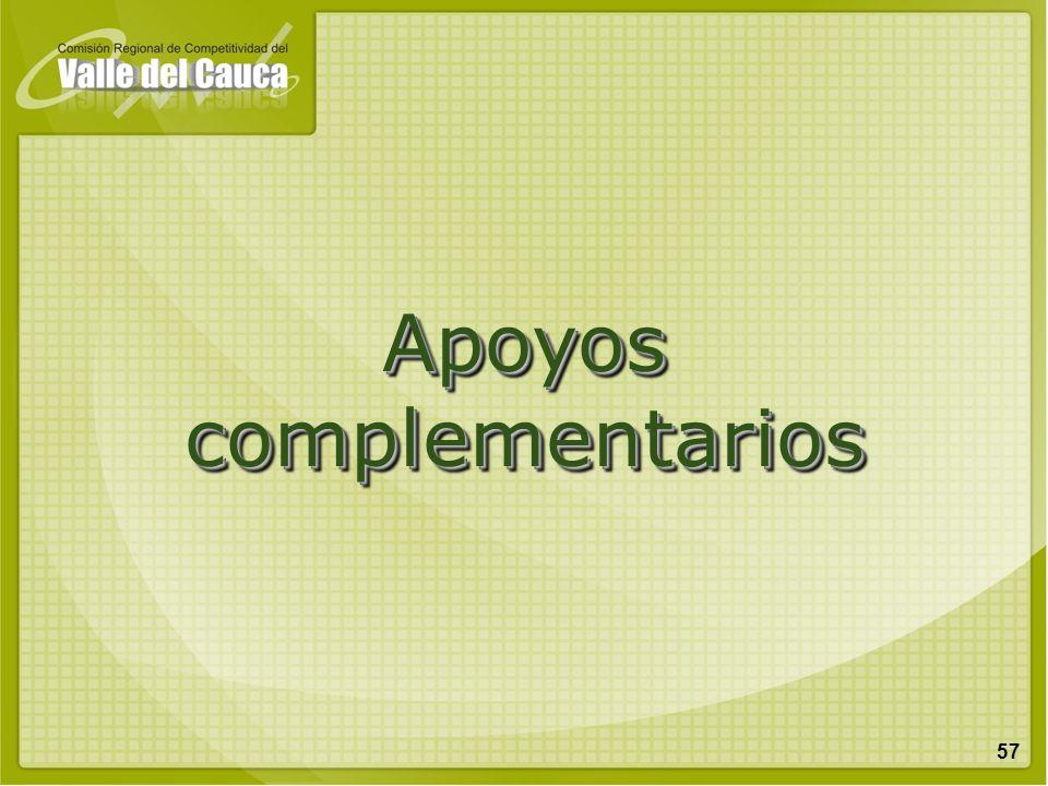Apoyos complementarios