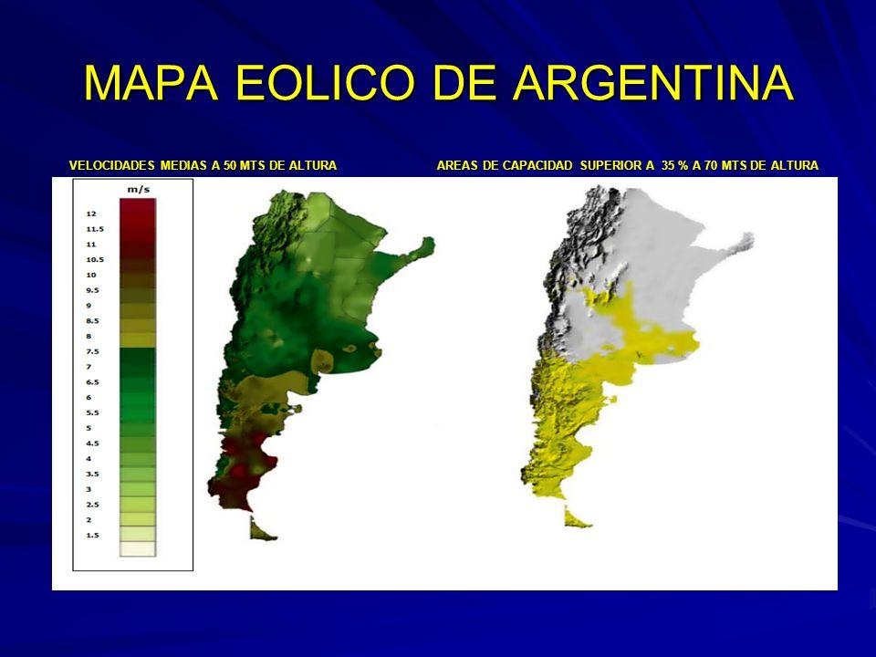MAPA EOLICO DE ARGENTINA