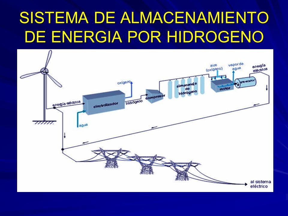 SISTEMA DE ALMACENAMIENTO DE ENERGIA POR HIDROGENO