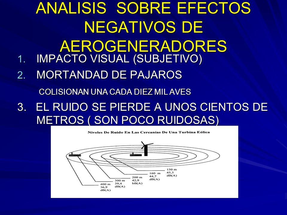ANALISIS SOBRE EFECTOS NEGATIVOS DE AEROGENERADORES