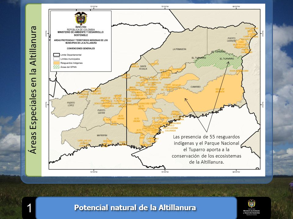 Potencial natural de la Altillanura