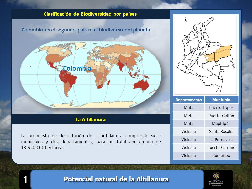 1 Colombia Potencial natural de la Altillanura