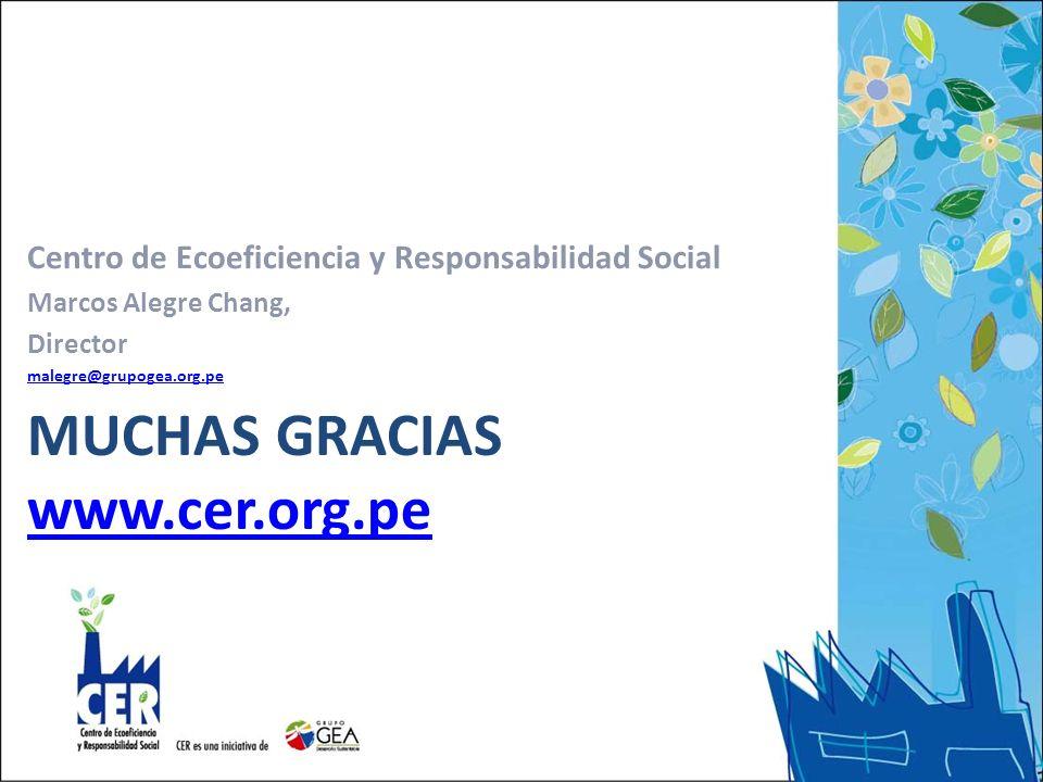 Muchas gracias www.cer.org.pe