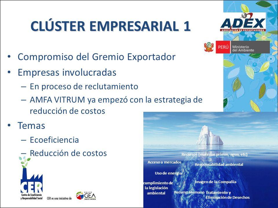 CLÚSTER EMPRESARIAL 1 Compromiso del Gremio Exportador