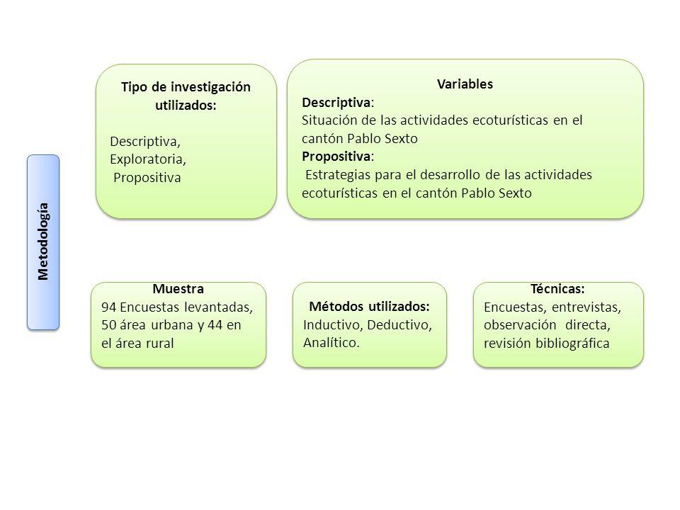 Tipo de investigación utilizados: