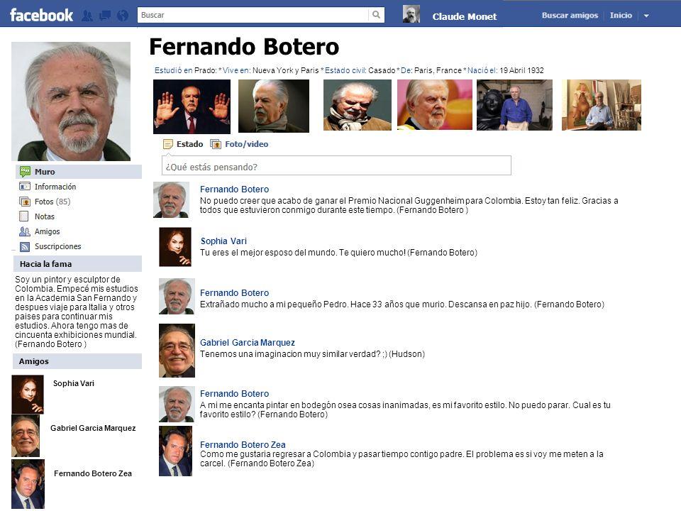 Fernando Botero Claude Monet Fernando Botero