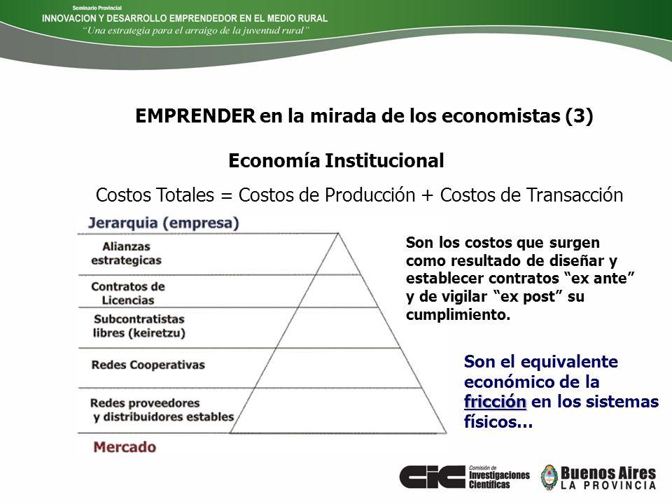 EMPRENDER en la mirada de los economistas (3)