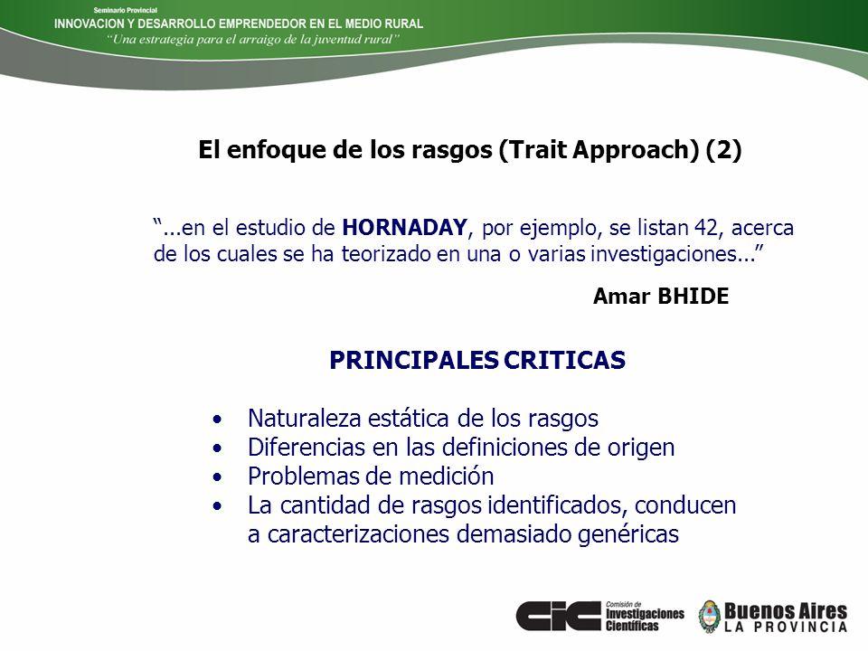 El enfoque de los rasgos (Trait Approach) (2)