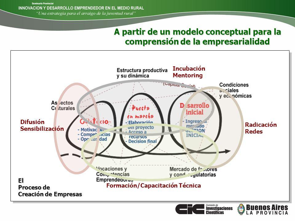 A partir de un modelo conceptual para la comprensión de la empresarialidad