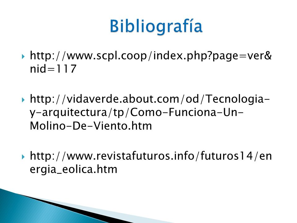 Bibliografía http://www.scpl.coop/index.php page=ver& nid=117