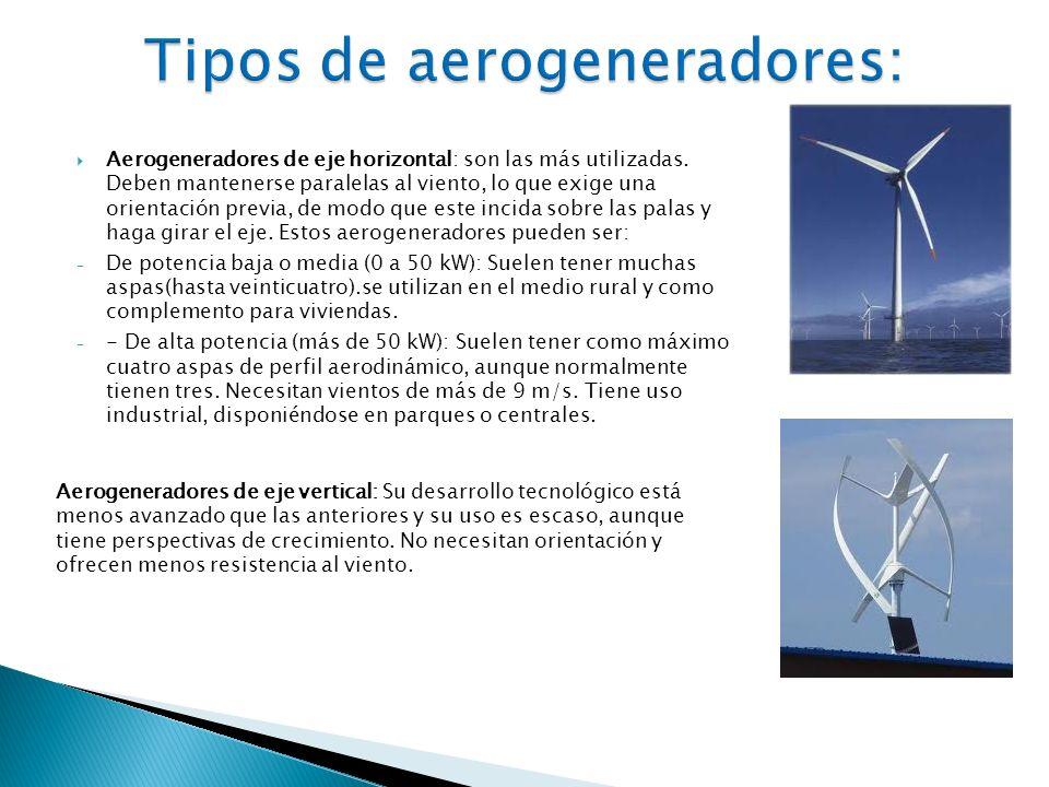 Tipos de aerogeneradores: