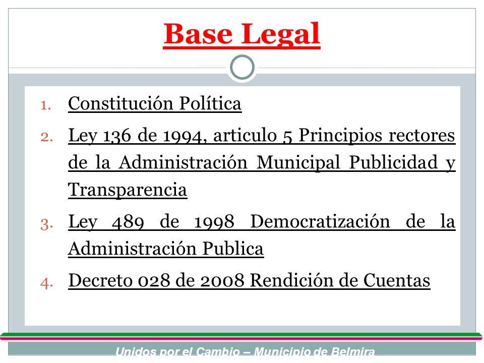 Unidos por el Cambio – Municipio de Belmira