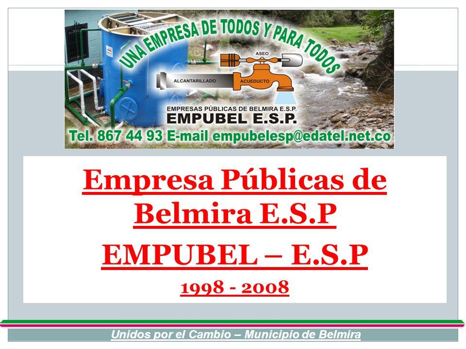 Empresa Públicas de Belmira E.S.P EMPUBEL – E.S.P