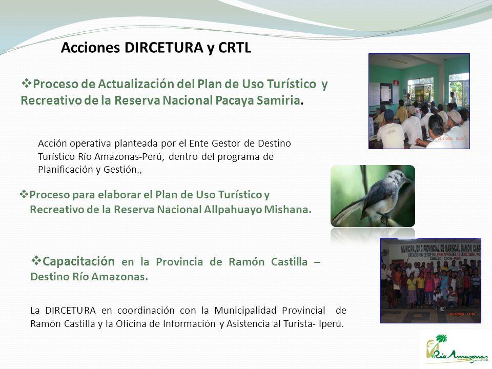 Acciones DIRCETURA y CRTL