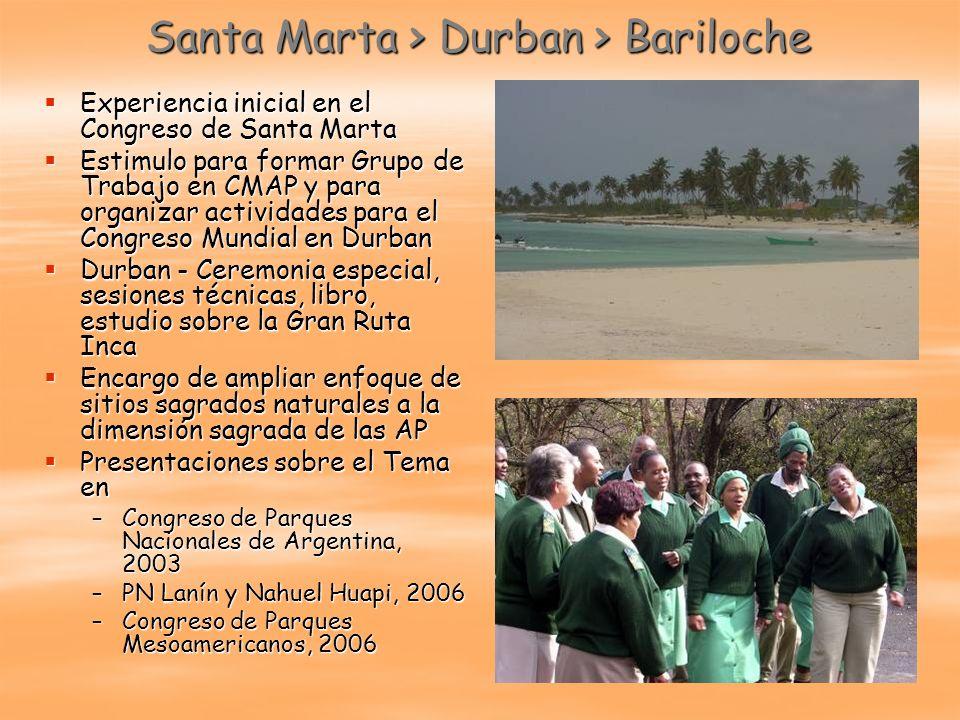 Santa Marta > Durban > Bariloche