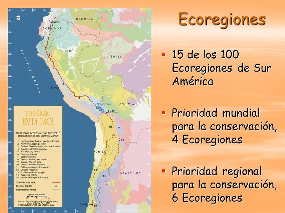 Ecoregiones 15 de los 100 Ecoregiones de Sur América