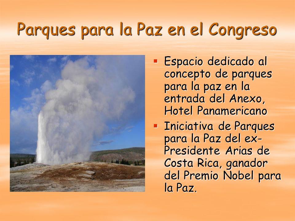 Parques para la Paz en el Congreso