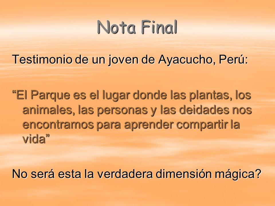 Nota Final Testimonio de un joven de Ayacucho, Perú: