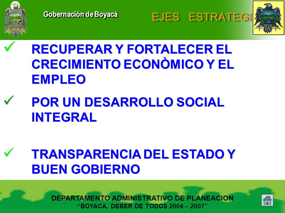 RECUPERAR Y FORTALECER EL CRECIMIENTO ECONÒMICO Y EL EMPLEO