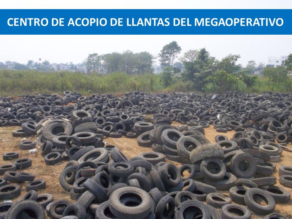 MEGAOPERATIVO DE RETIRO DE LLANTAS A VULCANIZADORAS Y DESECHOS SOLIDOS