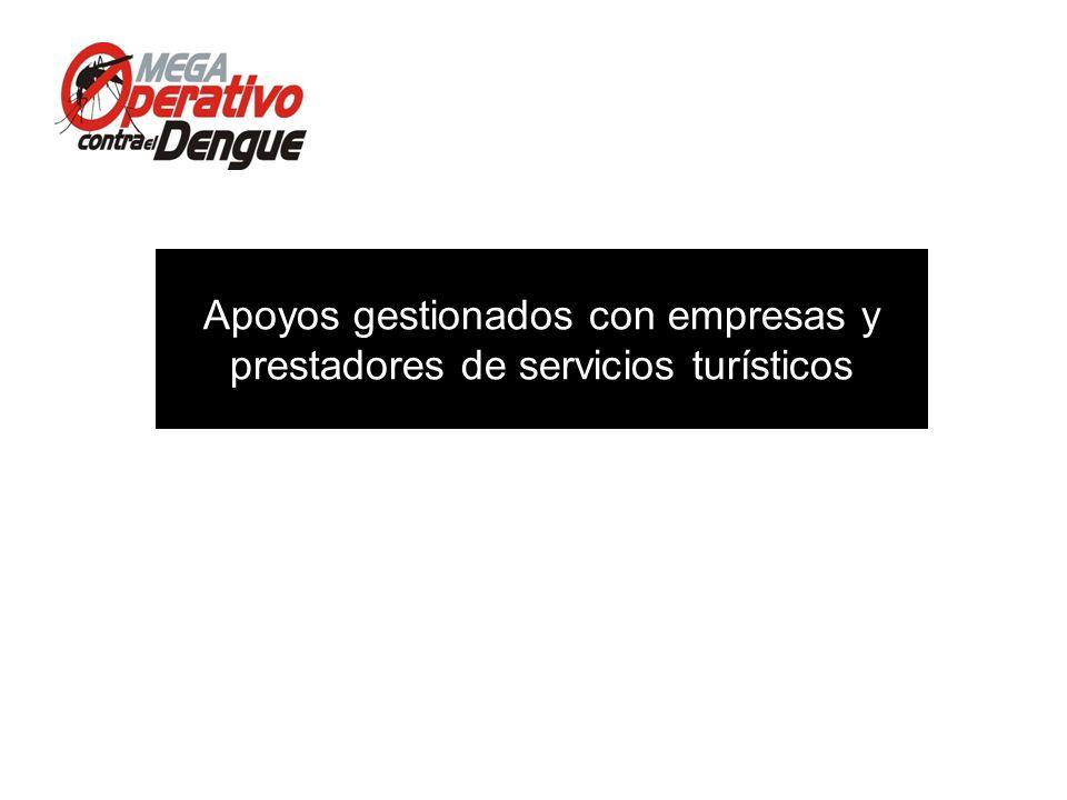 Apoyos gestionados con empresas y prestadores de servicios turísticos