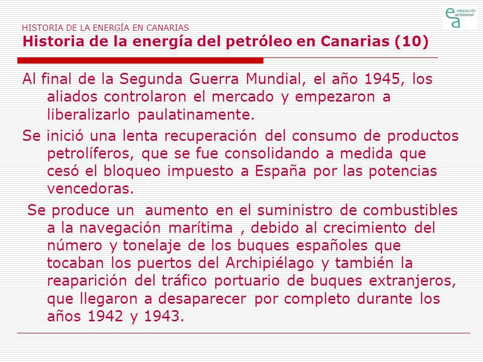 HISTORIA DE LA ENERGÍA EN CANARIAS Historia de la energía del petróleo en Canarias (10)