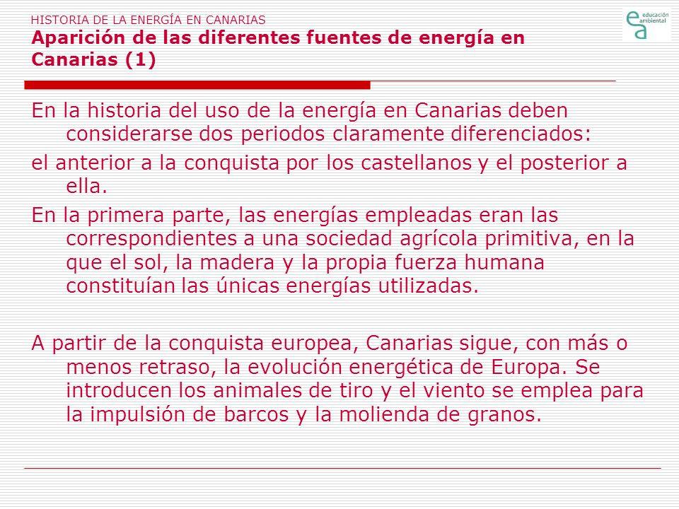 el anterior a la conquista por los castellanos y el posterior a ella.