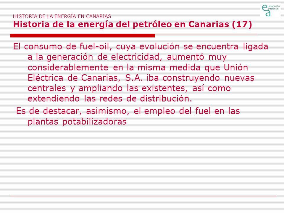 HISTORIA DE LA ENERGÍA EN CANARIAS Historia de la energía del petróleo en Canarias (17)