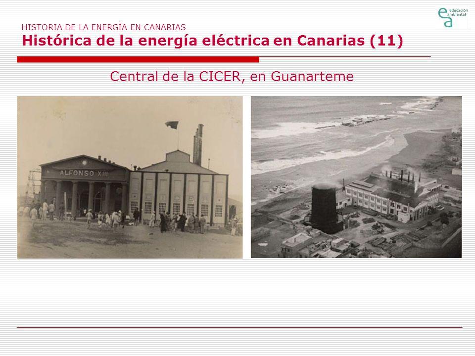 Central de la CICER, en Guanarteme
