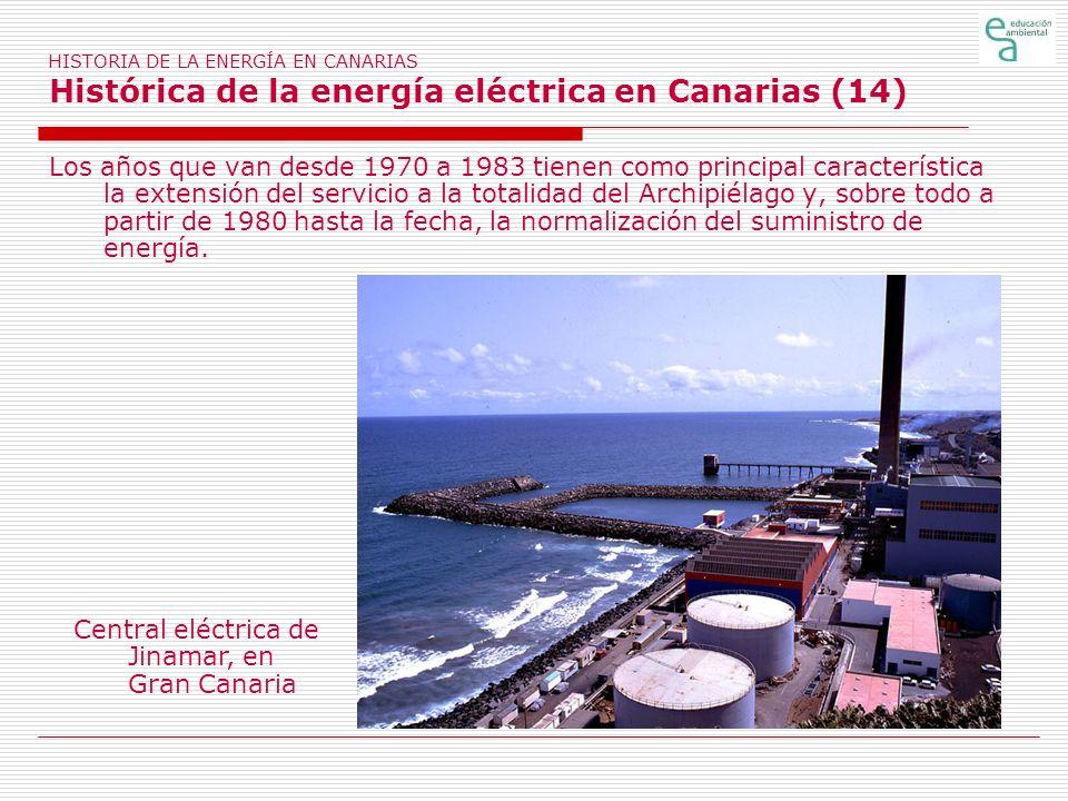 Central eléctrica de Jinamar, en Gran Canaria