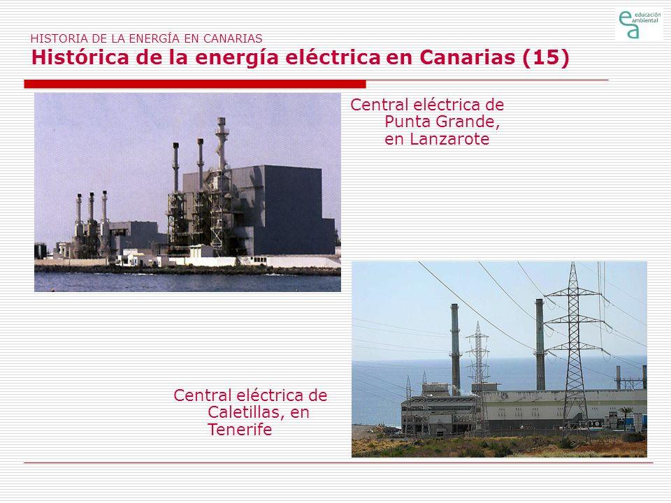 Central eléctrica de Punta Grande, en Lanzarote