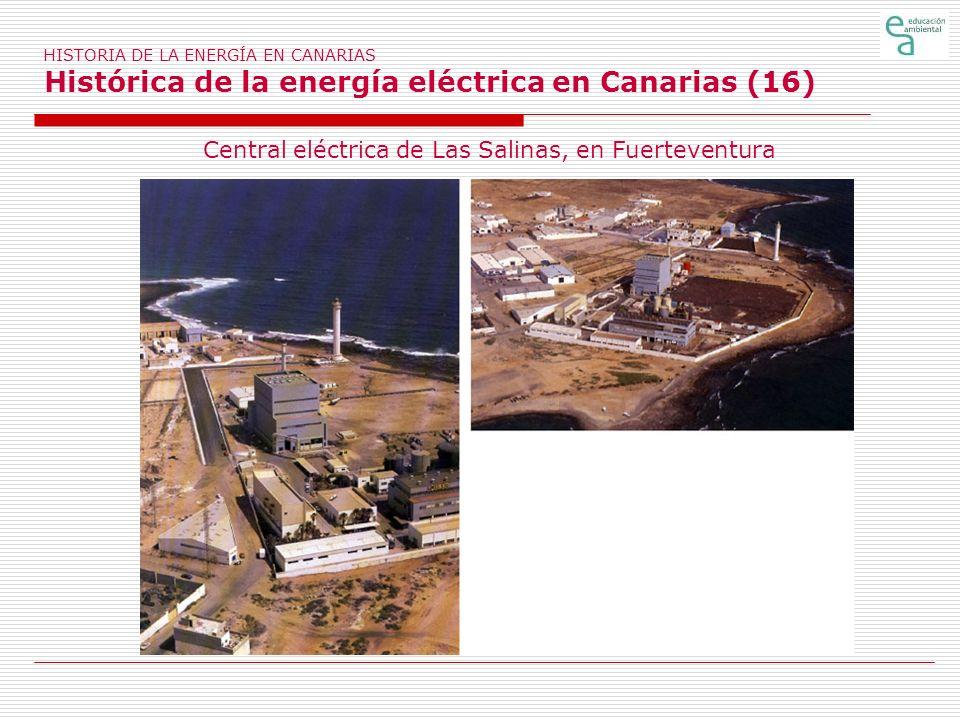 Central eléctrica de Las Salinas, en Fuerteventura