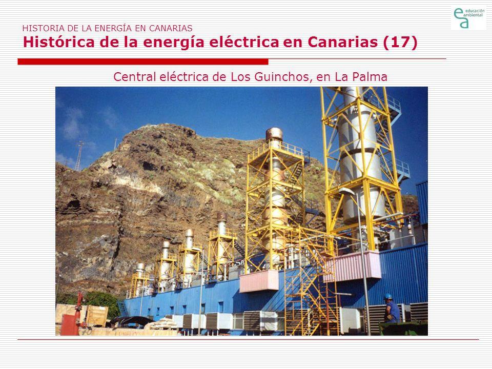 Central eléctrica de Los Guinchos, en La Palma