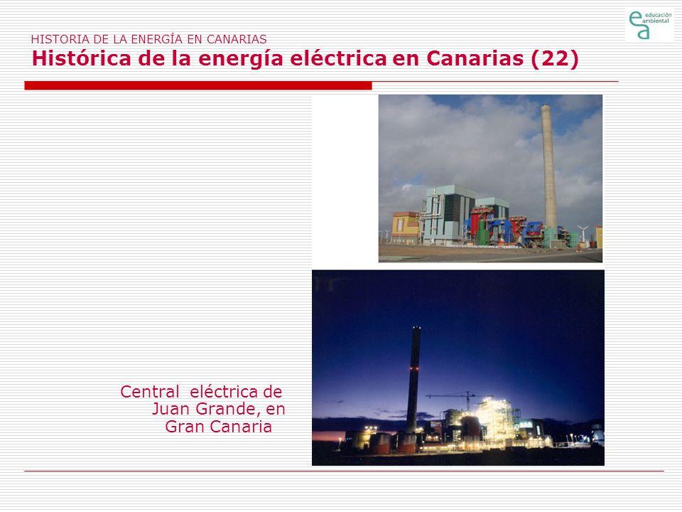 Central eléctrica de Juan Grande, en Gran Canaria