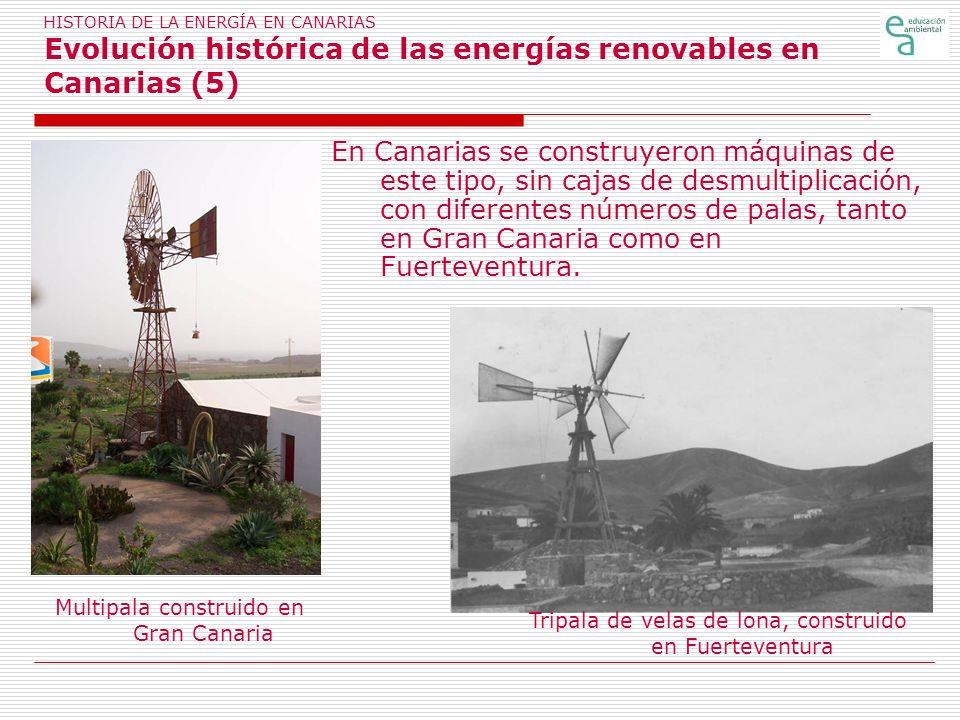 HISTORIA DE LA ENERGÍA EN CANARIAS Evolución histórica de las energías renovables en Canarias (5)