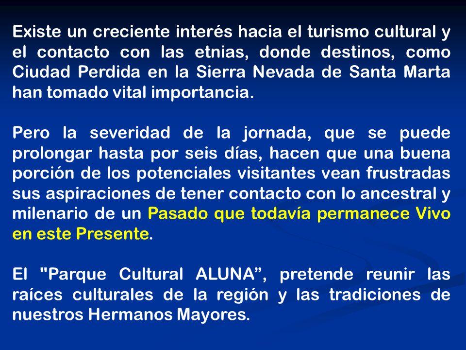 Existe un creciente interés hacia el turismo cultural y el contacto con las etnias, donde destinos, como Ciudad Perdida en la Sierra Nevada de Santa Marta han tomado vital importancia.