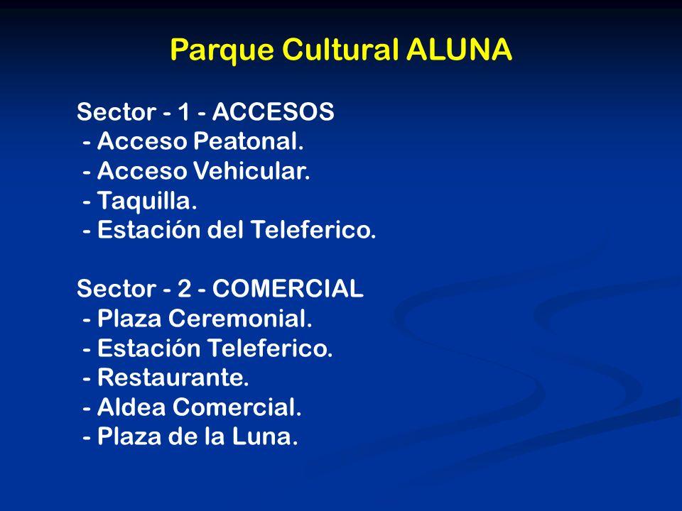 Parque Cultural ALUNA Sector - 1 - ACCESOS - Acceso Peatonal.