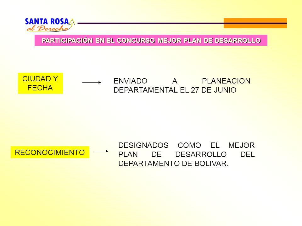 PARTICIPACIÓN EN EL CONCURSO MEJOR PLAN DE DESARROLLO