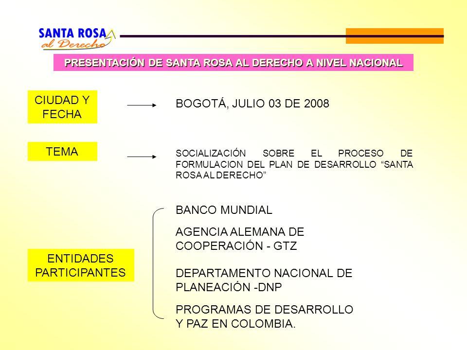 PRESENTACIÓN DE SANTA ROSA AL DERECHO A NIVEL NACIONAL