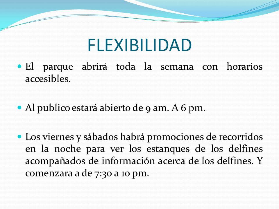 FLEXIBILIDAD El parque abrirá toda la semana con horarios accesibles.