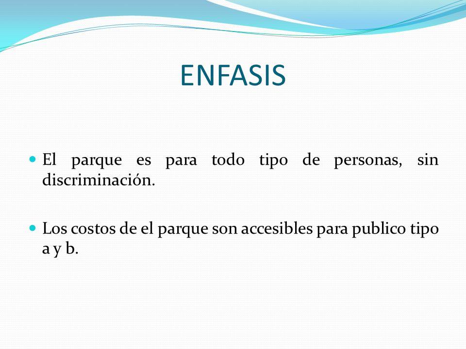 ENFASIS El parque es para todo tipo de personas, sin discriminación.