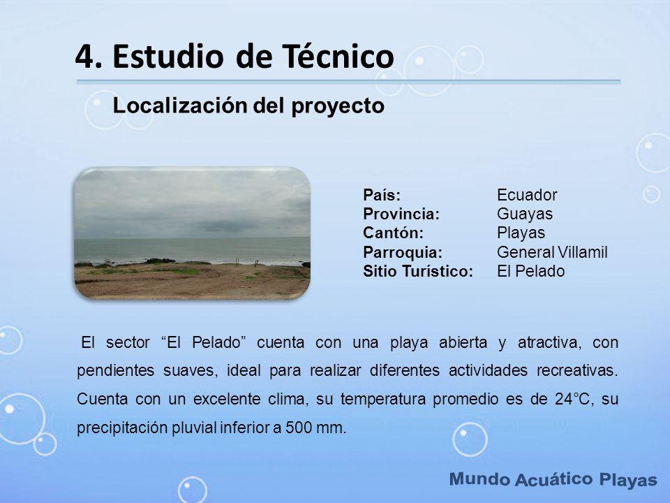Mundo Acuático Playas 4. Estudio de Técnico Localización del proyecto