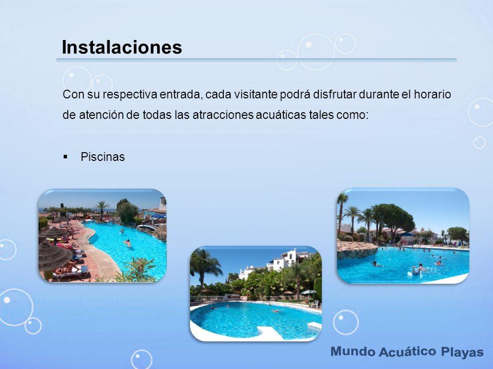 Mundo Acuático Playas Instalaciones