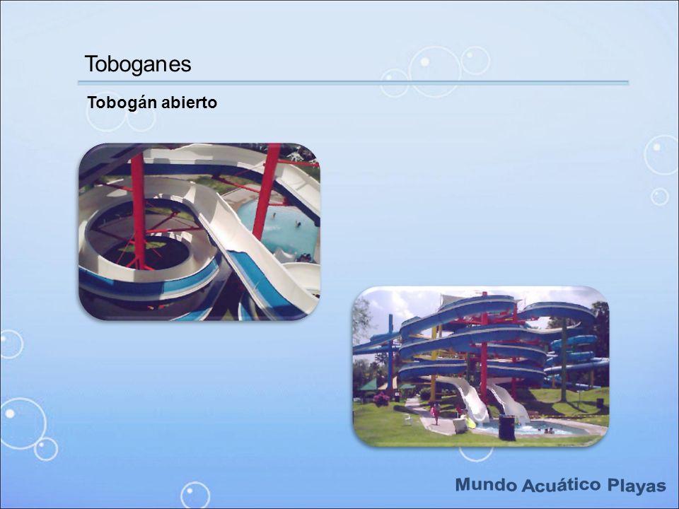Toboganes Tobogán abierto Mundo Acuático Playas
