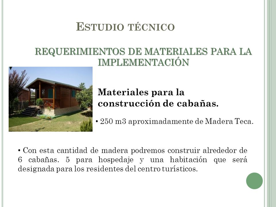 REQUERIMIENTOS DE MATERIALES PARA LA IMPLEMENTACIÓN