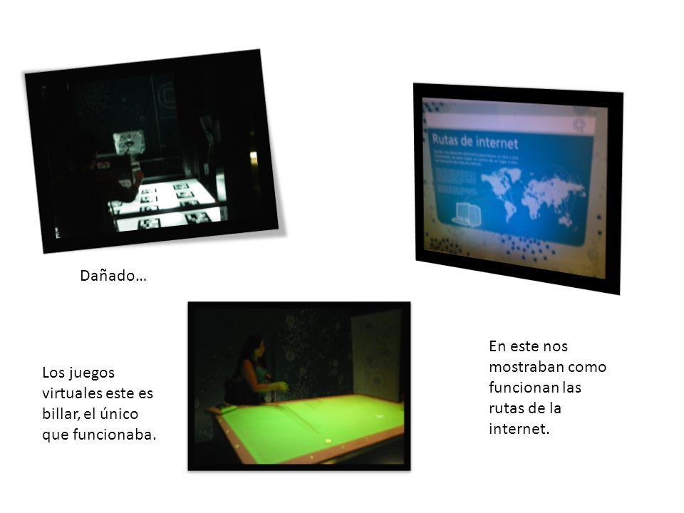 Dañado… En este nos mostraban como funcionan las rutas de la internet.
