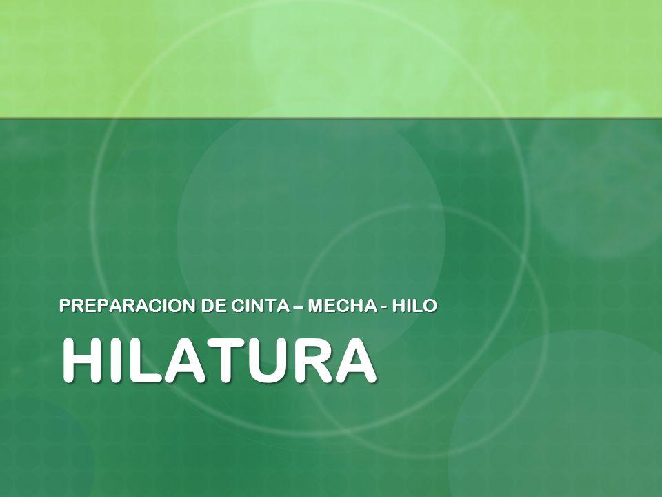 PREPARACION DE CINTA – MECHA - HILO